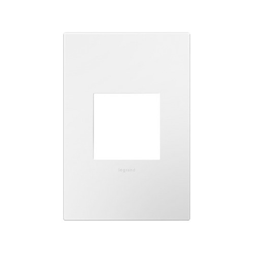 Legrand Adorne Single-Gang Wall Switch Plate Cover in Gloss White Finish AWP1G2WH10