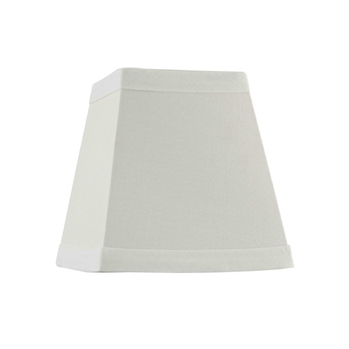 Design Classics Lighting Clip-On Square Off White Lamp Shade SH9594