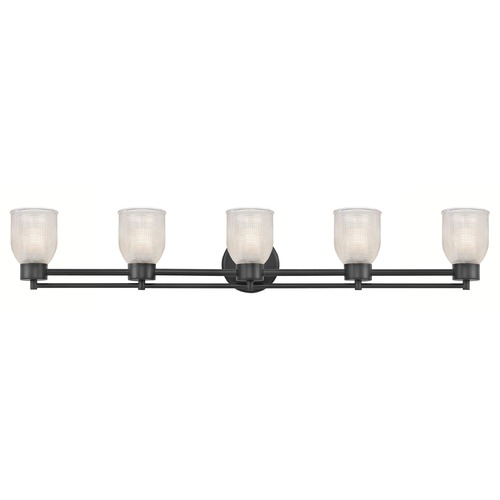Design Classics Lighting Prismatic Glass Modern Bathroom Light Black 5 Lt 706-07 GL1058-FC