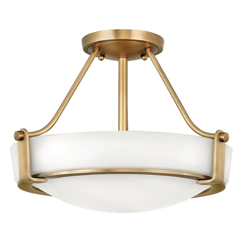 Hinkley Hinkley Hathaway Heritage Brass Semi-Flushmount Light 3220HB