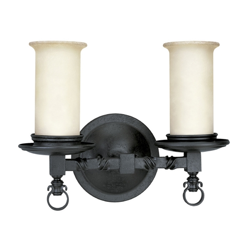 Progress Lighting Progress Bathroom Light in Forged Black Finish P2753-80