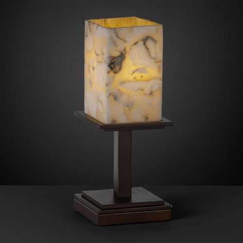 Justice Design Group Justice Design Group Alabaster Rocks! Collection Table Lamp ALR-8698-15-DBRZ
