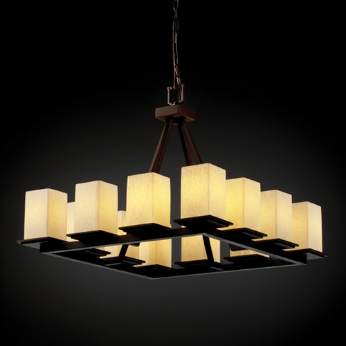 Justice Design Group Justice Design Group Fusion Collection Chandelier FSN-8668-15-DROP-DBRZ