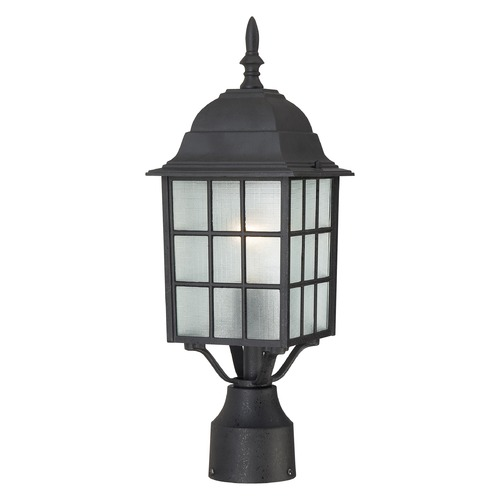 Nuvo Lighting Post Light with White Glass in Textured Black Finish 60/4909