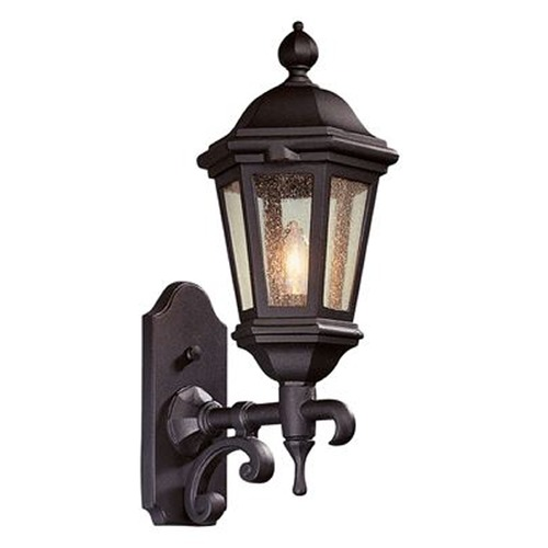 Troy Lighting Seeded Glass Outdoor Wall Light Bronze Troy Lighting BCD6830BZ