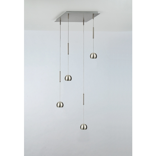 Holtkoetter Lighting Holtkoetter Modern Low Voltage LED Multi-Light Pendant Light 4-Lights C8410 R9732 SN