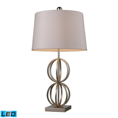 Dimond Lighting Dimond Lighting Silver Leaf LED Table Lamp with Empire Shade D1494-LED
