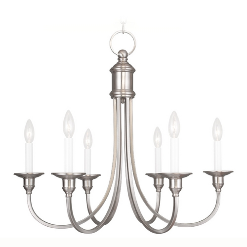 Livex Lighting Livex Lighting Cranford Brushed Nickel Chandelier 5146-91