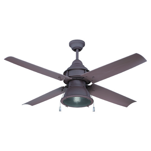 Craftmade Lighting Craftmade Lighting Port Arbor Rustic Iron Ceiling Fan with Light PAR52RI4