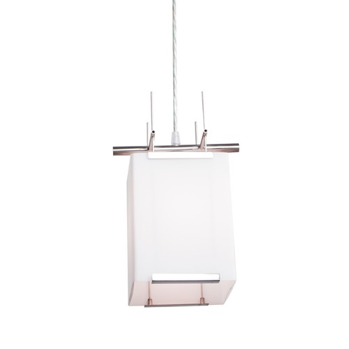 Illuminating Experiences Illuminating Experiences Symmetry Mini-Pendant Light with Square Shade SYMMETRY16GCH
