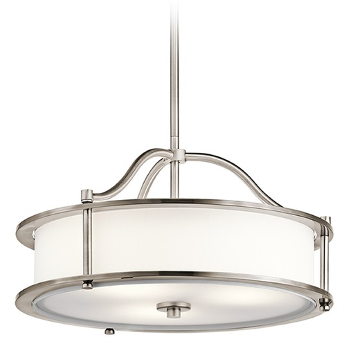 Kichler Lighting Kichler Lighting Emory Pendant Light with Drum Shade 43707CLP
