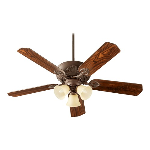 Quorum Lighting Quorum Lighting Chateaux Uni-Pack Oiled Bronze Ceiling Fan with Light 78525-1786