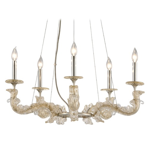 Corbett Lighting Corbett Lighting Cielo Silver Leaf Chandelier 221-05
