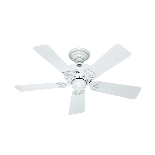 Hunter Fan Company Hunter Fan Company Hudson White Ceiling Fan Without Light 52065