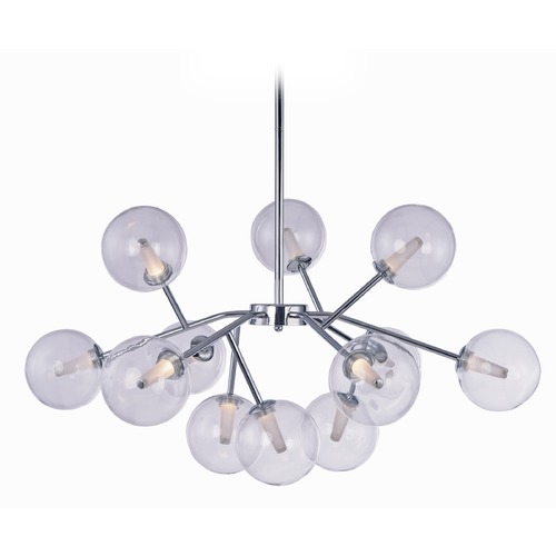 ET2 Lighting Satellite LED Polished Chrome LED Pendant Light with Globe Shade E24284-24PC