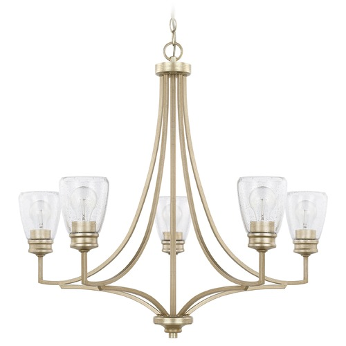 HomePlace by Capital Lighting Homeplace By Capital Lighting Newbury Winter Gold Chandelier 429051WG-453