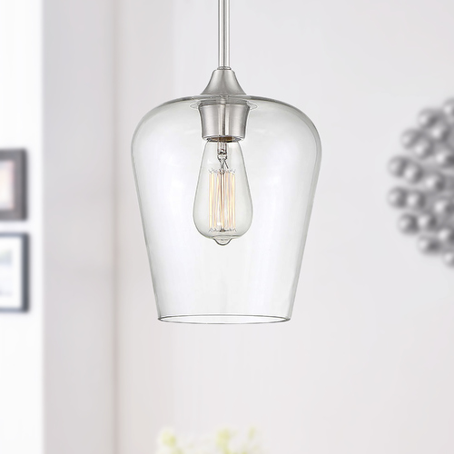 Savoy House Savoy House Octave 1-Light Satin Nickel Mini Pendant 7-4036-1-SN