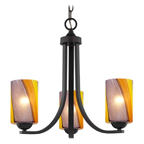 Design Classics Lighting Design Classics Dalton Fuse Neuvelle Bronze Mini-Chandelier 5843-220 GL1015C