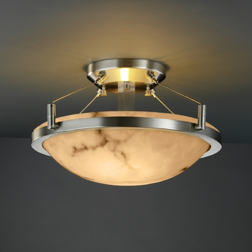 Justice Design Group Justice Design Group Lumenaria Collection Semi-Flushmount Light FAL-9680-35-NCKL