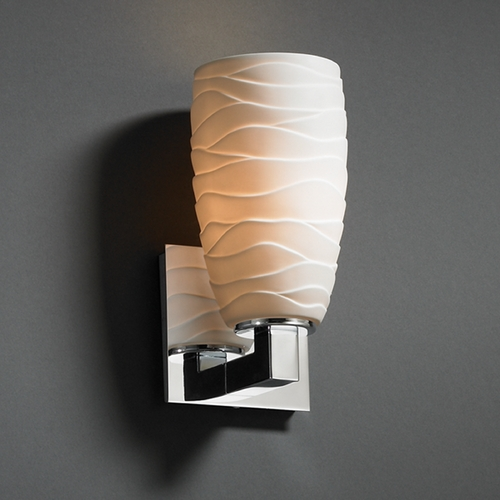 Justice Design Group Justice Design Group Limoges Collection Sconce POR-8921-28-WAVE-CROM