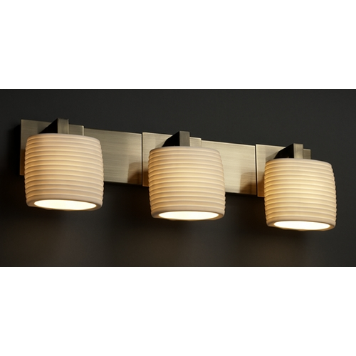 Justice Design Group Justice Design Group Limoges Collection Bathroom Light POR-8923-30-SAWT-ABRS