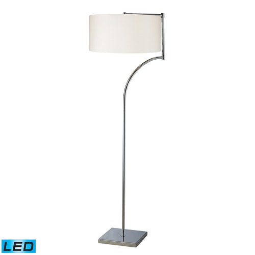 Dimond Lighting Dimond Lighting Chrome LED Floor Lamp with Drum Shade D1832-LED