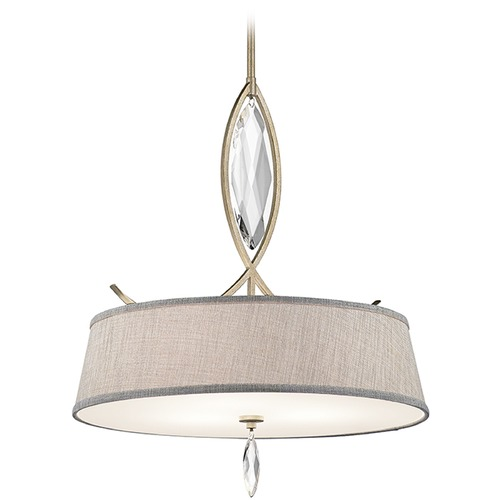 Kichler Lighting Kichler Lighting Casilda Pendant Light with Drum Shade 43566SGD