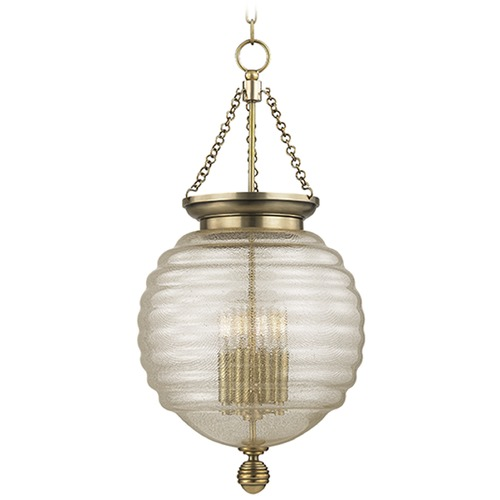 Hudson Valley Lighting Coolidge 4 Light Pendant Light - Aged Brass 3214-AGB