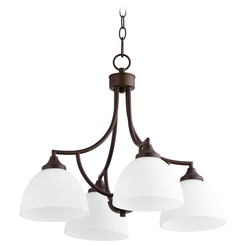 Quorum Lighting Quorum Lighting Enclave Oiled Bronze Chandelier 6459-4-86
