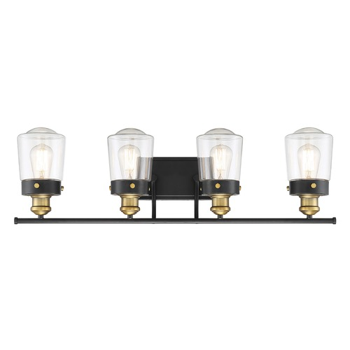 Savoy House Savoy House Lighting Macauley Vintage Black with Warm Brass Bathroom Light 8-2069-4-51
