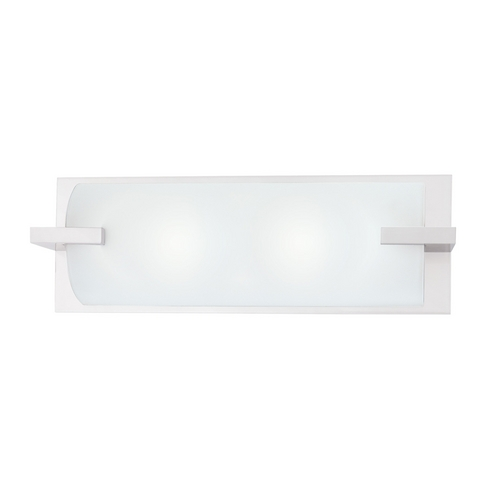 Sonneman Lighting Modern Bathroom Light with White Glass in Polished Chrome Finish 3793.01