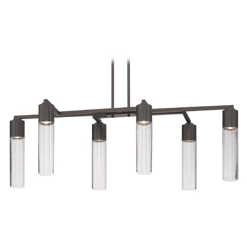 George Kovacs Lighting Modern Chandelier with Clear Glass in Sable Bronze Patina Finish P976-647