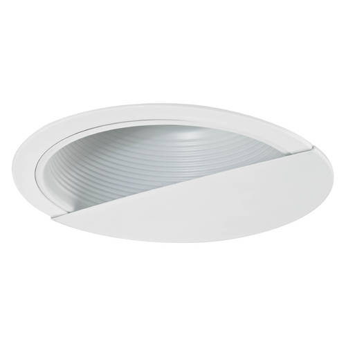 Recesso Lighting by Dolan Designs White Baffle Wall Washer Trim for 6-Inch Recessed Cans T620W-WH
