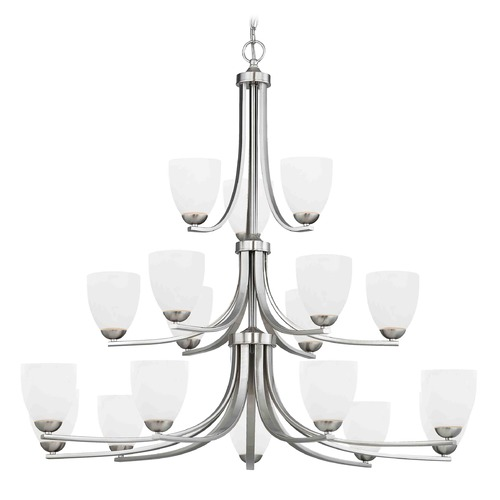 Design Classics Lighting Satin Nickel Chandelier 5863-09 GL1028MB