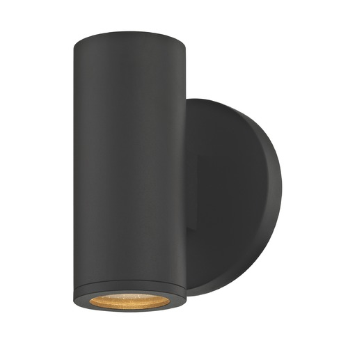 Design Classics Lighting LED Black Outdoor Wall Light Cylinder 3000K 1771-07 S9383 LED 3000K