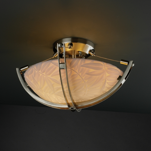 Justice Design Group Justice Design Group Porcelina Collection Semi-Flushmount Light PNA-9710-35-BMBO-NCKL