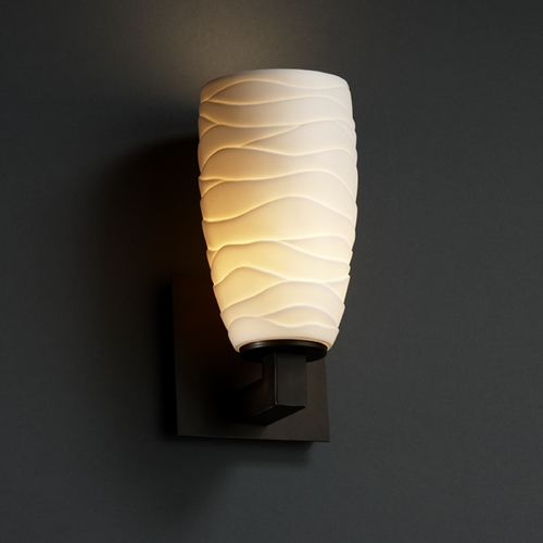 Justice Design Group Justice Design Group Limoges Collection Sconce POR-8921-28-WAVE-DBRZ