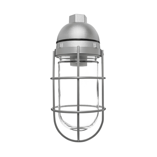 RAB Electric Lighting Close To Ceiling Light with Clear Glass in Silver Finish - 150W VP100S