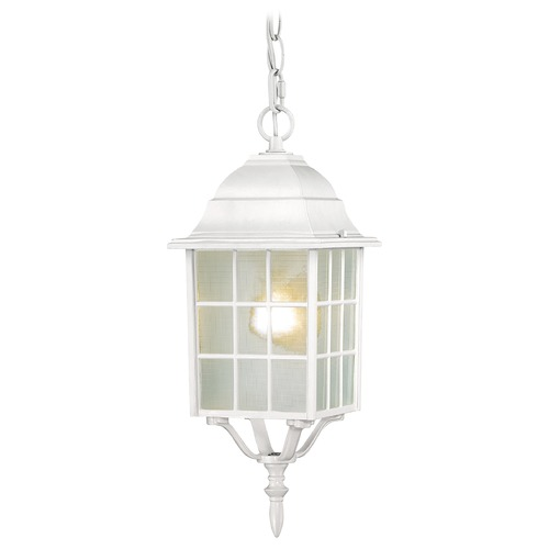 Nuvo Lighting Outdoor Hanging Light with White Glass in White Finish 60/4911
