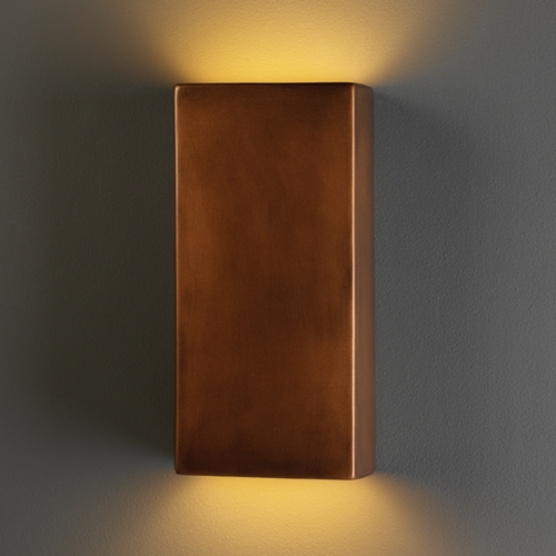Justice Design Group Sconce Wall Light in Antique Copper Finish CER-5955-ANTC