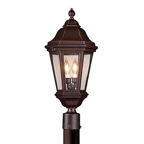 Troy Lighting Post Light with Clear Glass in Bronze Finish PCD6832BZ