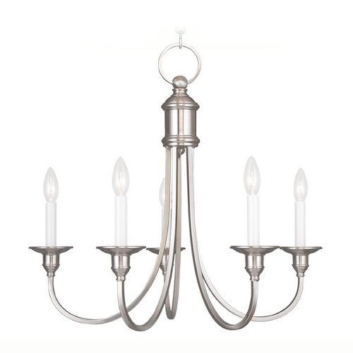 Livex Lighting Livex Lighting Cranford Brushed Nickel Chandelier 5145-91
