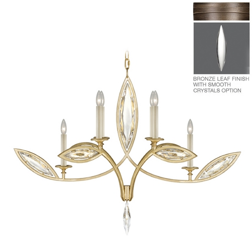 Fine Art Lamps Fine Art Lamps Marquise Antique Hand Rubbed Bronze Crystal Chandelier 844040-31ST