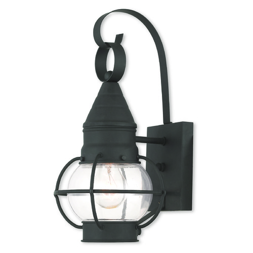 Livex Lighting Livex Lighting Newburyport Black Outdoor Wall Light 26900-04