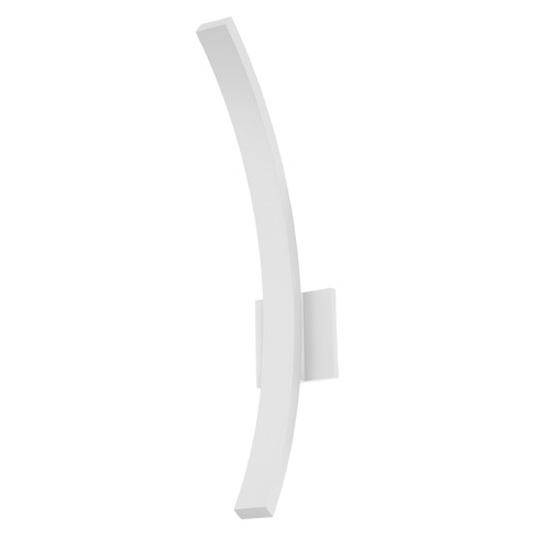 Sonneman Lighting Sonneman L'arc Textured White LED Outdoor Wall Light 7245.98-WL