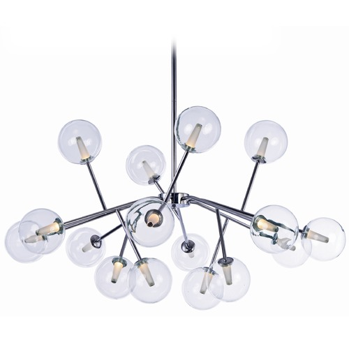ET2 Lighting Satellite LED Polished Chrome LED Pendant Light with Globe Shade E24286-24PC