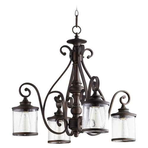 Quorum Lighting Quorum Lighting San Miguel Vintage Copper Chandelier 6473-4-39