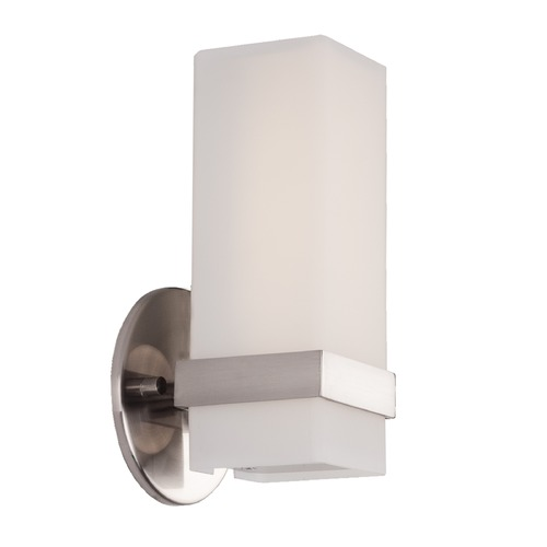 Kuzco Lighting Modern Brushed Nickel LED Sconce with White Opal Shade 3000K 452LM WS8809-BN
