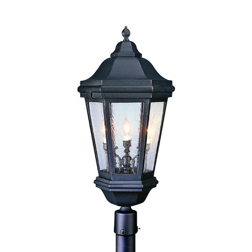 Troy Lighting Post Light with Clear Glass in Matte Black Finish PCD6835MB