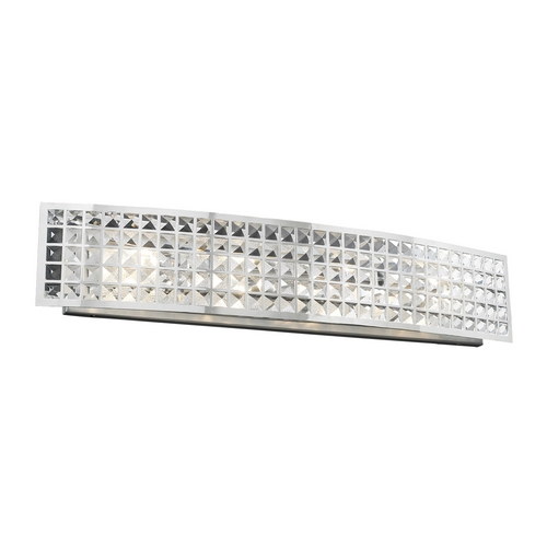 PLC Lighting Modern Bathroom Light with Clear Glass in Polished Chrome Finish 18183 PC
